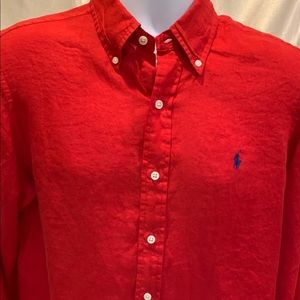 Men's Ralph Lauren Polo Button Down Linen Shirt